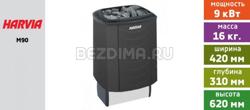 Электрическая печь для сауны Harvia Sound M90 (чёрный цвет)