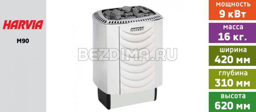 Электрическая печь для сауны Harvia Sound M90 (нержавейка)