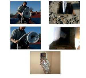 Установка полимерного вкладыша Алюком