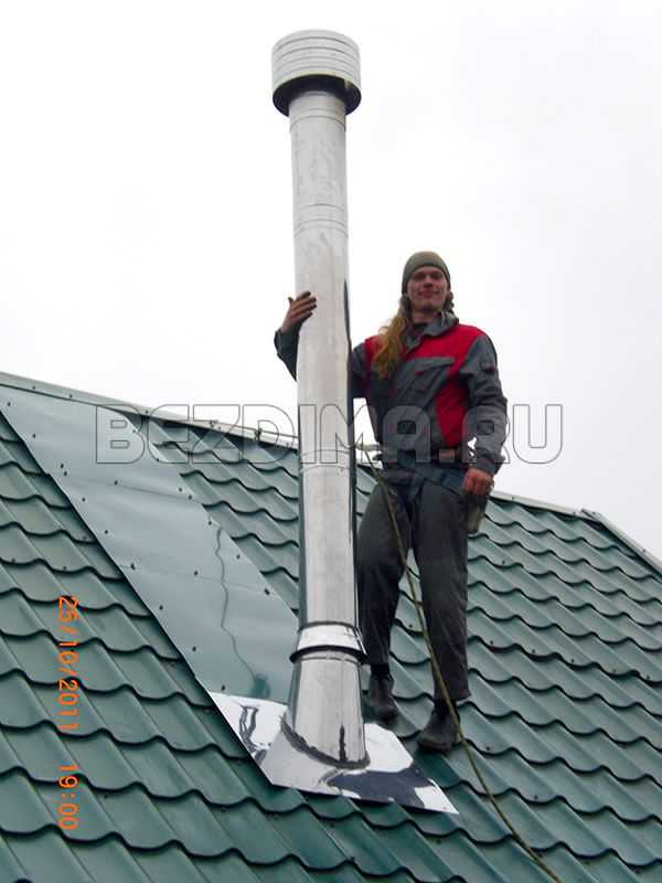 Как сделать трубу на крыше чтобы не бежала 618