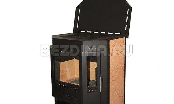 Печь-камин Бранденбург призма с чугунной плитой